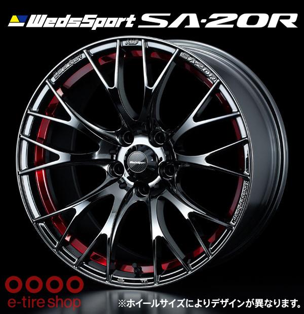 【要お取り寄せ】 WedsSport SA-20R 18×8.5J PCD114.3/5H +50 ハブ径:73 カラー:レッドライトクローム ※ホイール1枚価格です