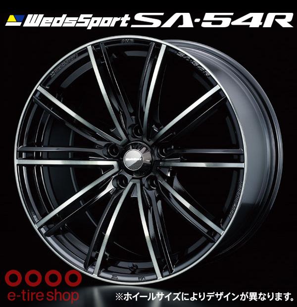 【要お取り寄せ】 WedsSport SA-54R 17×7.0J PCD100/4H +43 ハブ径:65 カラー:ウォースブラッククリアー ※ホイール1枚価格です