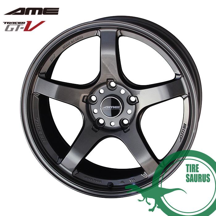 共豊 TRACER GT-V 18×10.5J PCD114/5 +15 Face3トレーサーAMEマットハイパーシルバーホイール1枚
