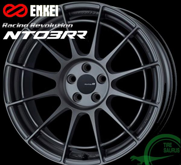 ENKEI(エンケイ) Racing Revolution NT03RR 17×9.0J PCD114/5 +12 ボア径:75φ カラー:MDG(マットダークガンメタリック) 【レーシング レボリューション エヌティー03RR】 注)ホイール1枚です