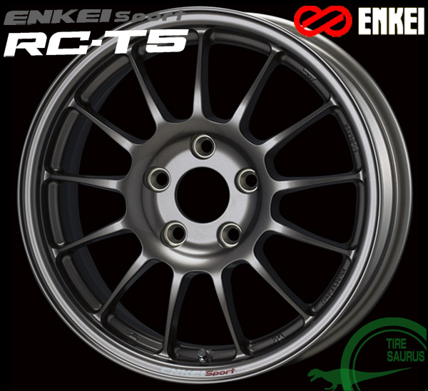 ENKEI エンケイ スポーツ RC-T5 16インチ 7.0J PCD100/5 +48 ボア径:75φ カラー:ダークシルバー ENKEI Sport RC-T5ホイール1枚