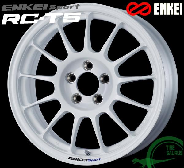 ENKEI エンケイ スポーツ RC-T5 16インチ 6.5J PCD100/4 +45 ボア径:75φ カラー:ホワイト ENKEI Sport RC-T5ホイール1枚