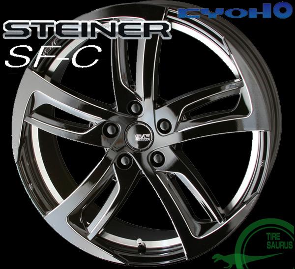 【KYOHO】 シュタイナー SF-C 19×7.5J PCD114/5 +48 ボア径:73φ カラー:グロスブラック×エッジミーリング 【STEINER SF-C】 注)ホイール1枚です