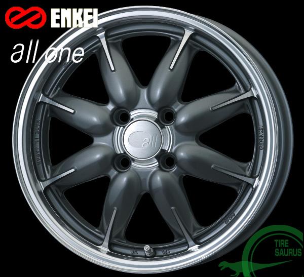 ENKEI(エンケイ) all one 15×6.0J PCD100/4 +45 ボア径:75φ カラー:Machining Gunmetallic(マシニング ガンメタリック) 【オールフォー ワン】 注)ホイール1枚です