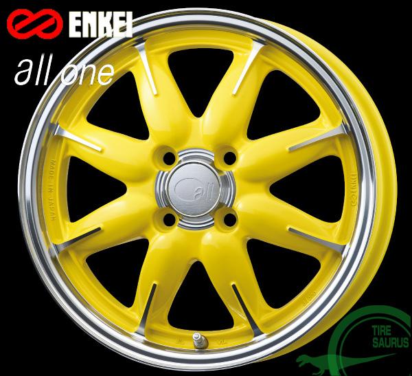 ENKEI(エンケイ) all one 15×5.0J PCD100/4 +45 ボア径:75φ カラー:Machining Lemon Yellow(マシニング レモン イエロー) 【オールフォー ワン】 注)ホイール1枚です