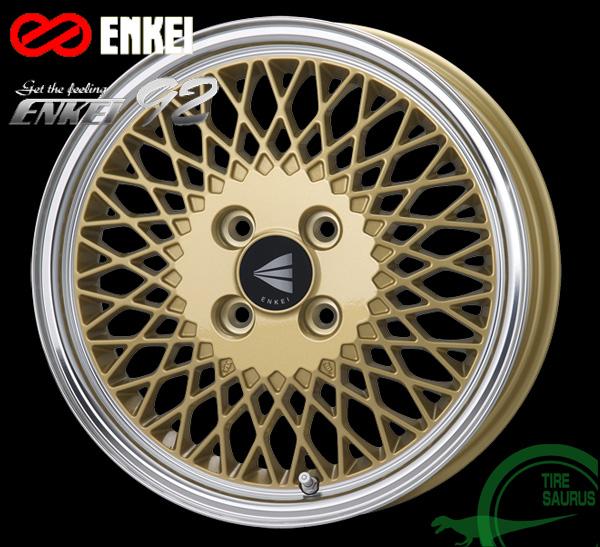 ENKEI(エンケイ) Neo Classic ENKEI92 15×8.0J PCD100/4 +25 ボア径:72.6φ カラー:Gold with Machined Lip 【ネオ クラッシック エンケイ92】 注)ホイール1枚です