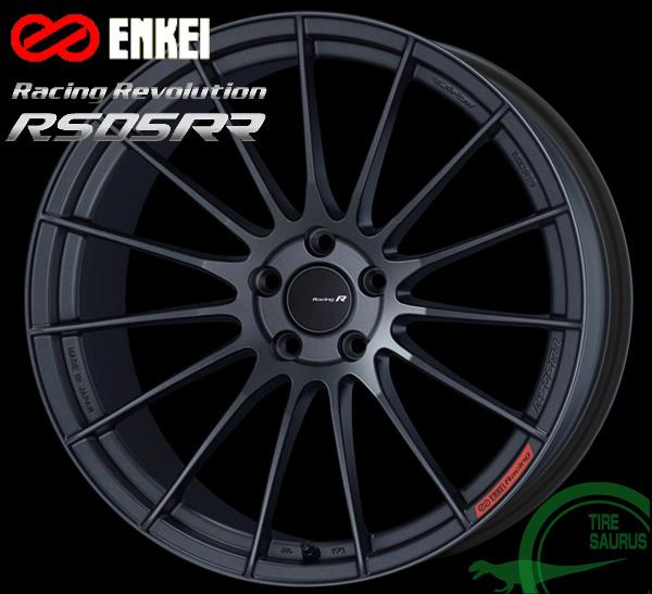 ENKEI(エンケイ) Racing Revolution RS05RR 18×9.5J PCD114/5 +35 ボア径:75φ カラー:MDG(マットダーク ガンメタリック) 【レーシング レボリューション RS05RR】 注)ホイール1枚です