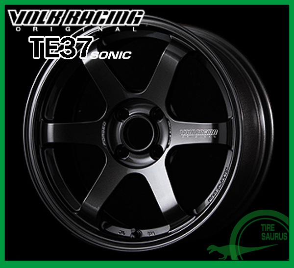 【ホイール1枚】RAYS(レイズ) VOLK RACING TE37 SONIC16×6.0J PCD100/4H +42 ボア径:65φカラー:MM(ダイヤモンドダークガンメタ)【ボルクレーシング TE37 ソニック】