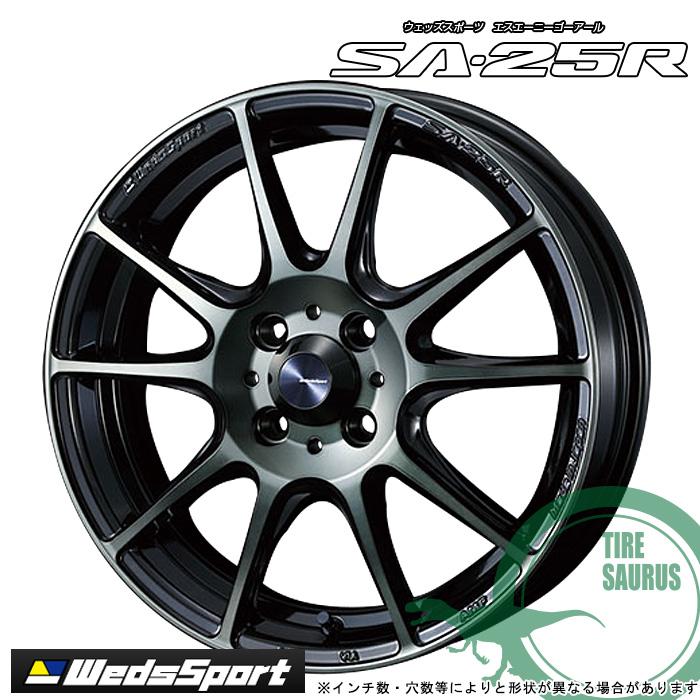Weds sport SA-25R 17×7.0 4/100 +50 FACE F カラー:WBC(ウォースブラッククリア) [ウェッズスポーツ エスエーニーゴーアール] ホイール1枚価格