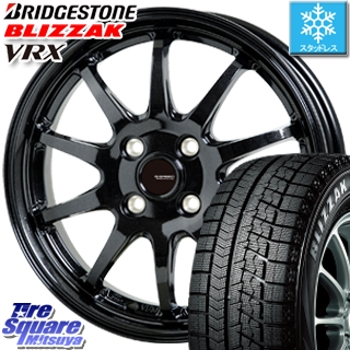 ブリヂストン スタッドレスタイヤ ブリザック VRX スタッドレス 〇 185/55R15 HotStuff G-SPEED G-04 ブラック ホイールセット 4本 15インチ 15 X 5.5 +43 4穴 100