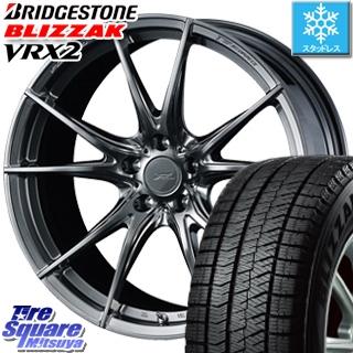 ブリヂストン ブリザック VRX2 2019年製 スタッドレスタイヤ スタッドレス ● 225/45R19 WEDS F ZERO FZ-2 鍛造 FORGED ホイールセット 4本 19 X 8 +38 5穴 114.3
