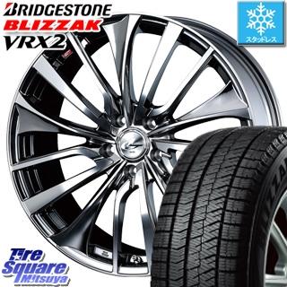 ブリヂストン ブリザック VRX2 スタッドレスタイヤ スタッドレス ● 245/40R20 WEDS 36389 レオニス VT ウェッズ Leonis ホイールセット 4本 20インチ 20 X 8.5 +52 5穴 114.3