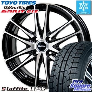 TOYO オブザーブ ガリット GARIT GIZ スタッドレス スタッドレスタイヤ 165/65R14 HotStuff Laffite ラフィット LW-03 ホイールセット 4本 14インチ 14 X 4.5 +45 4穴 100