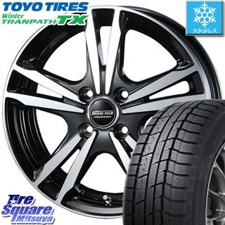 【5/10 Rカードで最大46倍】 TOYO ウィンター トランパス TX 軽自動車 スタッドレスタイヤ 155/65R14 BLEST BAHNS TECH Jizelis FVP ホイールセット 14インチ 14 X 4.5J +45 4穴 100