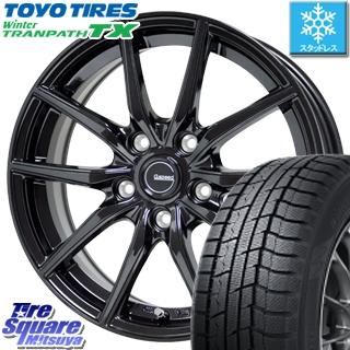 【5/10 Rカードで最大46倍】 リーフ TOYO ウィンター トランパス TX スタッドレスタイヤ 205/55R16 HotStuff G.speed G-02 G02 ブラック ホイールセット 16インチ 16 X 6.5J +38 5穴 114.3