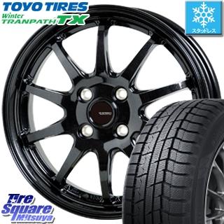 【7月25日はクーポン発行と最大31倍】 TOYO ウィンター トランパス TX 軽自動車 スタッドレスタイヤ 155/65R14 HotStuff G-SPEED G-04 G04 ブラック ホイールセット 14インチ 14 X 4.5J +45 4穴 100