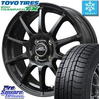 TOYO ウィンター トランパス TX 軽自動車 スタッドレスタイヤ 155/65R14 MANARAY SCHNERDER StaG スタッグ ガンメタ ホイールセット 14インチ 14 X 4.5J +46 4穴 100