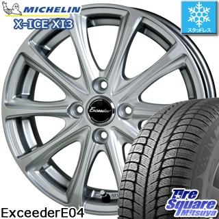 ミシュラン X-ICE XI3 エックスアイス スタッドレス スタッドレスタイヤ 175/70R14 HotStuff エクシーダー E04 4本 ホイールセット 14インチ 14 X 5.5 +45 4穴 100