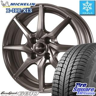 ミシュラン X-ICE XI3 エックスアイス スタッドレス スタッドレスタイヤ 155/65R13 MANARAY Euro Speed G810 ホイールセット 4本 13インチ 13 X 4 +43 4穴 100
