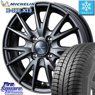 ミシュラン X-ICE XI3 エックスアイス スタッドレス スタッドレスタイヤ 155/65R13 WEDS ウェッズ ヴェルヴァ SPORT(スポルト) ホイールセット 4本 13インチ 13 X 4 +45 4穴 100
