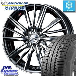 ミシュラン 2018年製 X-ICE XI3 エックスアイス XICE 3 スタッドレスタイヤ 正規品 185/55R16 WEDS 37353 レオニス FY ウェッズ Leonis ホイールセット 4本 16インチ 16 X 6 +50 4穴 100