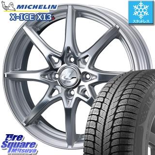 ミシュラン スタッドレスタイヤ X-ICE XI3 エックスアイス スタッドレス 175/65R15 WEDS ウェッズ Leonis レオニス SV ホイールセット 4本 15インチ 15 X 5.5 +50 4穴 100