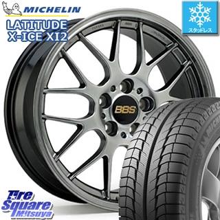ミシュラン LATITUDE X-ICE XI2 XICE ラチチュード エックスアイス スタッドレスタイヤ 正規品 235/65R17 BBS RG-R 鍛造1ピース ホイールセット 4本 17インチ 17 X 7.5 +48 5穴 114.3