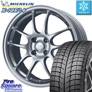 ミシュラン 2019年製 X-ICE XI3+ エックスアイス XICE 3+ スタッドレスタイヤ 正規品 215/45R17 ENKEI PerformanceLine PF01 ホイールセット 4本 17 X 7 +38 4穴 100