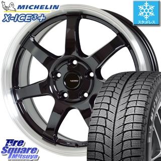 ミシュラン スタッドレスタイヤ X-ICE XI3+ スリープラス エックスアイス スタッドレス 205/65R16 HotStuff 軽量設計!G.speed P-03 ホイールセット 4本 16インチ 16 X 6.5 +48 5穴 114.3
