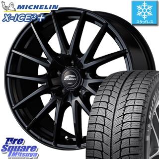 ミシュラン スタッドレスタイヤ X-ICE XI3+ スリープラス エックスアイス スタッドレス 195/60R16 MANARAY SCHNEDER SQ27 ブラック ホイールセット 4本 16インチ 16 X 6.5 +53 5穴 114.3