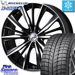 ミシュラン 2019年製 X-ICE XI3+ エックスアイス XICE 3+ スタッドレスタイヤ 正規品 235/55R18 WEDS 33280 レオニス VX ウェッズ Leonis ホイールセット 4本 18インチ 18 X 8 +42 5穴 114.3
