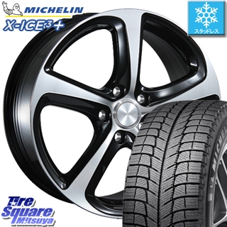 ミシュラン スタッドレスタイヤ X-ICE XI3+ スリープラス エックスアイス スタッドレス 195/65R15 ブリヂストン BALMINUM Z5 平座仕様(トヨタ車専用) ホイールセット 4本 15 X 6.5 +40 5穴 100