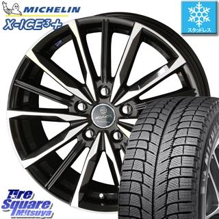 ミシュラン 2019年製 X-ICE XI3+ エックスアイス XICE 3+ スタッドレスタイヤ 正規品 225/55R18 KYOHO スマック ヴァルキリー ホイールセット 4本 18インチ 18 X 7 +53 5穴 114.3