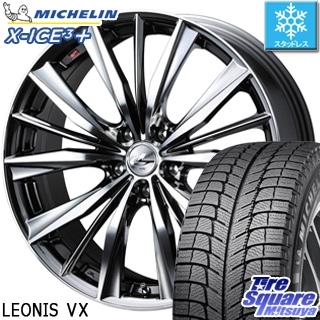 ミシュラン X-ICE XI3+ スリープラス エックスアイス スタッドレス スタッドレスタイヤ 225/55R18 WEDS ウェッズ Leonis レオニス VX ホイールセット 4本 18インチ 18 X 7 +53 5穴 114.3