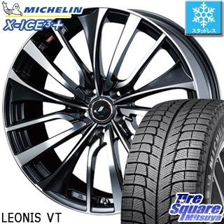 ミシュラン X-ICE XI3+ スリープラス エックスアイス スタッドレス スタッドレスタイヤ 195/65R15 WEDS ウェッズ Leonis レオニス VT ホイールセット 4本 15インチ 15 X 6 +45 5穴 100