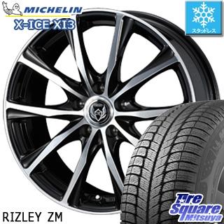 ミシュラン X-ICE XI3 在庫 エックスアイス スタッドレス スタッドレスタイヤ 225/50R18 WEDS ウェッズ RIZLEY ライツレー ZM ホイールセット 4本 18インチ 18 X 7.5 +38 5穴 114.3