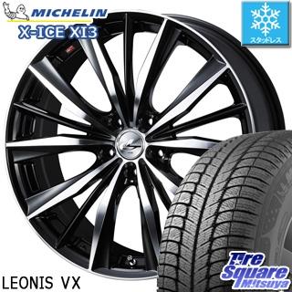 ミシュラン X-ICE XI3 エックスアイス スタッドレス スタッドレスタイヤ 245/45R19 WEDS ウェッズ Leonis レオニス VX ホイールセット 4本 19インチ 19 X 8 +38 5穴 114.3