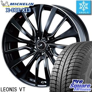 ミシュラン X-ICE XI3 エックスアイス スタッドレス スタッドレスタイヤ 245/45R19 WEDS ウェッズ Leonis レオニス VT ホイールセット 4本 19インチ 19 X 8 +43 5穴 114.3