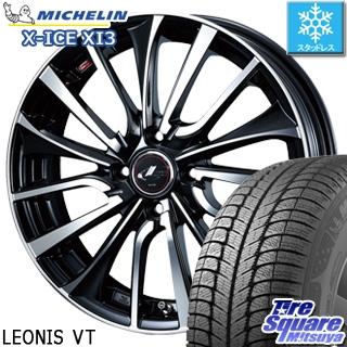 ミシュラン X-ICE XI3 エックスアイス スタッドレス スタッドレスタイヤ 185/65R14 WEDS ウェッズ Leonis レオニス VT ホイールセット 4本 14インチ 14 X 5.5 +42 4穴 100