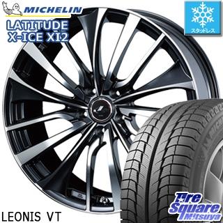 ミシュラン LATITUDE X-ICE XI2 ラチチュード エックスアイス スタッドレス スタッドレスタイヤ 235/65R18 WEDS ウェッズ Leonis レオニス VT ホイールセット 4本 18インチ 18 X 8 +42 5穴 114.3