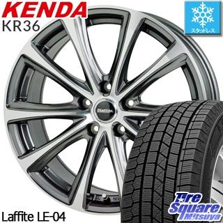 KENDA ICETEC NEO KR36 2018年製 スタッドレス スタッドレスタイヤ 225/55R17 HotStuff Laffite ラフィット LE-04 ホイールセット 4本 17インチ 17 X 7 +38 5穴 114.3