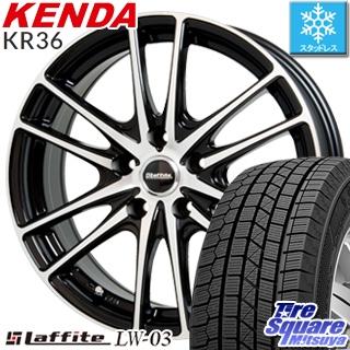 KENDA ICETEC NEO KR36 2018年製 スタッドレス スタッドレスタイヤ 215/50R17 HotStuff Laffite ラフィット LW-03 ホイールセット 4本 17インチ 17 X 7 +50 5穴 100