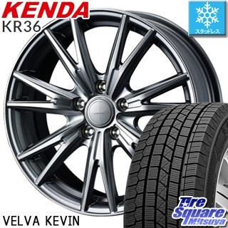 KENDA ICETEC NEO KR36 2018年製 スタッドレス スタッドレスタイヤ 225/55R18 WEDS ウェッズ ヴェルヴァ KEVIN(ケビン) ホイールセット 4本 18インチ 18 X 7.5 +38 5穴 114.3