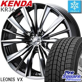 KENDA ICETEC NEO KR36 2018年製 在庫 スタッドレス スタッドレスタイヤ 225/45R18 WEDS ウェッズ Leonis レオニス VX ホイールセット 4本 18インチ 18 X 7 +53 5穴 114.3