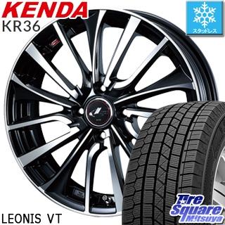 KENDA ICETEC NEO KR36 2018年製 スタッドレス スタッドレスタイヤ 185/65R14 WEDS ウェッズ Leonis レオニス VT ホイールセット 4本 14インチ 14 X 5.5 +42 4穴 100