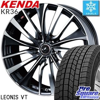 KENDA ICETEC NEO KR36 2018年製 スタッドレス スタッドレスタイヤ 195/65R15 WEDS ウェッズ Leonis レオニス VT ホイールセット 4本 15インチ 15 X 6 +45 5穴 100