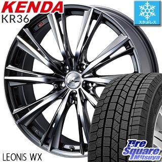 KENDA ICETEC NEO KR36 2018年製 スタッドレス スタッドレスタイヤ 215/50R17 WEDS ウェッズ Leonis レオニス WX ホイールセット 4本 17インチ 17 X 7 +42 5穴 114.3