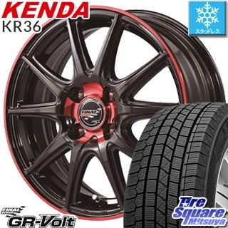 KENDA ICETEC NEO KR36 2018年製 スタッドレス スタッドレスタイヤ 165/55R15 MANARAY FINAL SPEED GR-Volt ホイール 4本セット 15 X 4.5 +45 4穴 100
