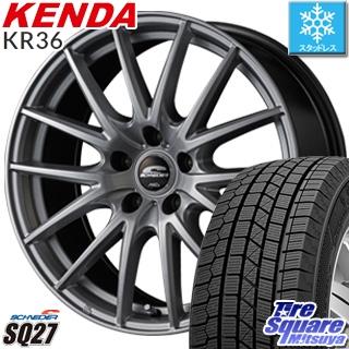 KENDA ICETEC NEO KR36 2018年製 スタッドレス スタッドレスタイヤ 205/55R16 MANARAY SCHNEDER SQ27 ホイールセット 4本 16インチ 16 X 6.5 +47 5穴 100