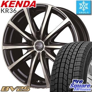 KENDA ICETEC NEO KR36 2018年製 在庫● スタッドレス スタッドレスタイヤ 185/60R15 MANARAY EUROSTREAM BV25 ホイールセット 4本 15インチ 15 X 6 +45 5穴 114.3